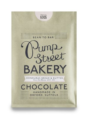 Pump Street Bakery, Honduras Bread & Butter, 58% milk chocolate bar