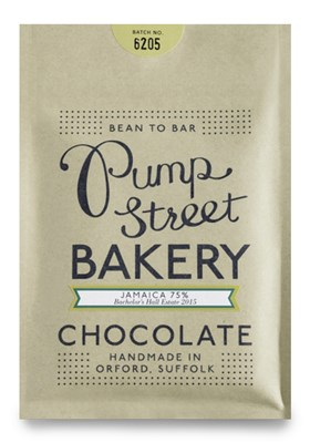 Pump Street Bakery, Jamaica 75%, dark chocolate bar