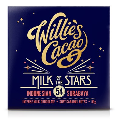 Willie's, Milk of The Stars, Indonesian 54% milk chocolate bar