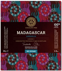 Chocolate Tree, Madagascar Ambanja, 100% dark chocolate bar