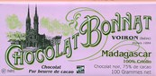 Bonnat, Madagascar 100% Criollo, 75% dark chocolate bar
