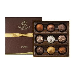 Godiva, Signature Assortment, 9 Chocolate Truffles Gift Box