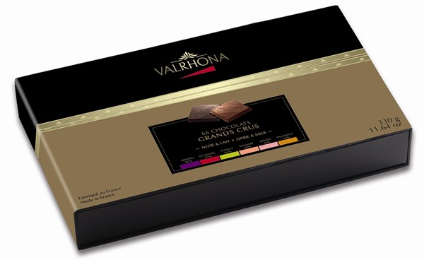 Valrhona, Grand Crus Milk & dark chocolate tasting box 330g