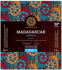 Chocolate Tree, Madagascar Ambanja, 50% Milk Chocolate Bar