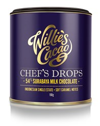 Willie's, Chefs Milk Chocolate Drops, Surabaya 54%