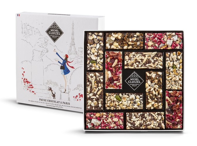 Fruit And Chocolate Gift Boxes : Michel cluizel fruit nut mini bars chocolate gift box