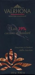 Le Lait, 39% cocoa, milk chocolate couverture