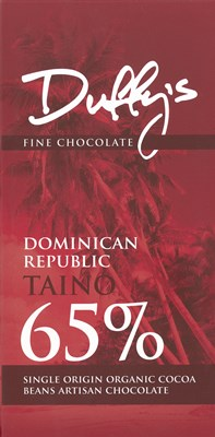 Duffy's, Dominican Republic Taino, 65% dark chocolate bar