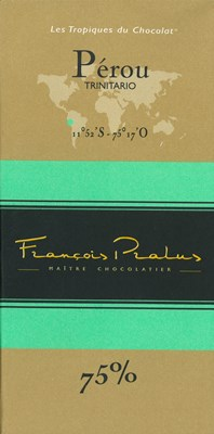 Pralus Perou, 75% dark chocolate bar