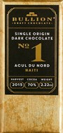 Bullion, No.1 Acul Du Nord Haiti, 70% dark chocolate bar