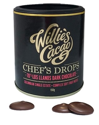 Willie's Los LLanos 70% dark chocolate drops
