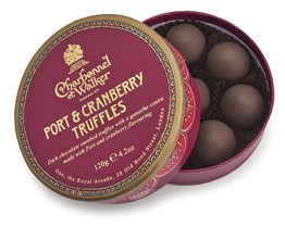 Port & Cranberry dark chocolate truffles