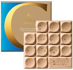 Godiva, Blonde chocolate with salted caramel bar