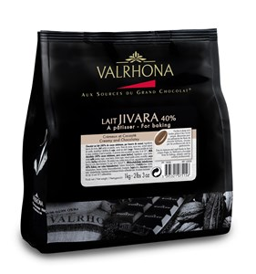 Valrhona Jivara 40% Cocoa Milk Chocolate Chips for Baking 1kg