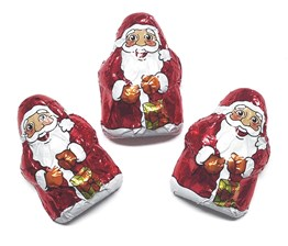 Mini chocolate Santa's
