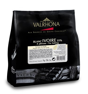 Valrhona, Ivoire, white chocolate couverture chips 1kg