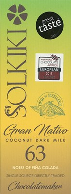 Solkiki, Gran Nativo, 63% dark chocolate bar