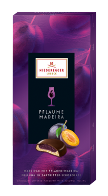 Niederegger, Dark chocolate marzipan with plum and madeira