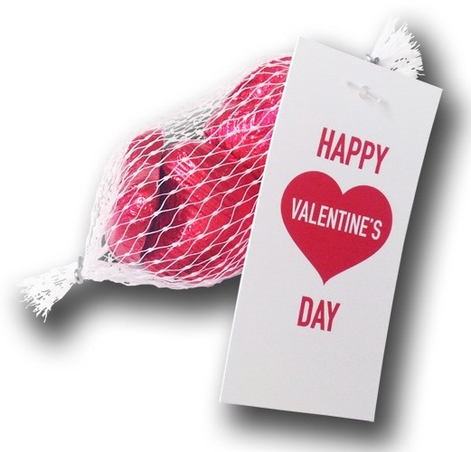 Personalised Valentine\'s Day Net of Hearts - Chocolate Trading Co