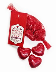Valentine's Day Net of Chocolate Hearts