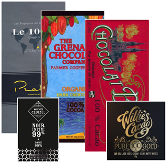 100 percent cocoa content dark chocolate bar bundle