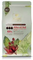 Cacao Barry, Alto el Sol 65% dark chocolate chips (pistoles)