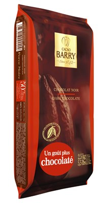 Cacao Barry, Force Noir 50% dark chocolate chips (pistoles)