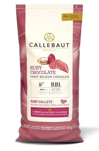 Callebaut Ruby Chocolate Chips Callets Chocolate