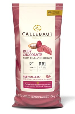 Callebaut Ruby chocolate couverture chips (callets)