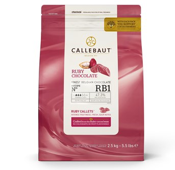 Callebaut Ruby chocolate chips 2.5kg