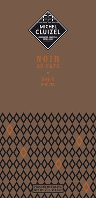 Michel Cluizel, Noir au Cafe, dark chocolate with coffee bar