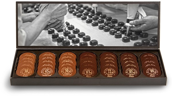 Michel Cluizel, Nuancier Grandes Teneurs chocolate box