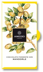 Amedei, dark chocolate with almond chocolate bar