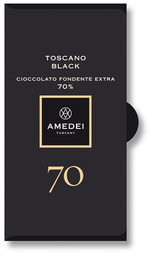 Amedei Toscano Black 70 Dark Chocolate Bar Online Uk