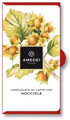 Amedei, milk chocolate with hazelnut bar