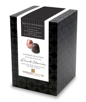 Superior Selection, Cherries in Kirsch, Chocolate Gift Cube