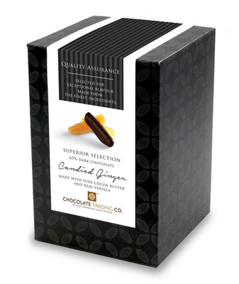 Superior Selection, Candied Ginger, Chocolate Gift Cube