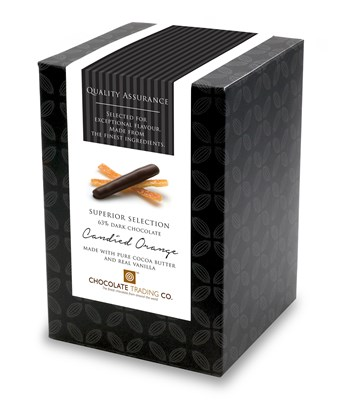 Superior Selection, Candied Orange, Chocolate Gift Cube
