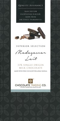 Madagascar Lait, 33% milk chocolate bar