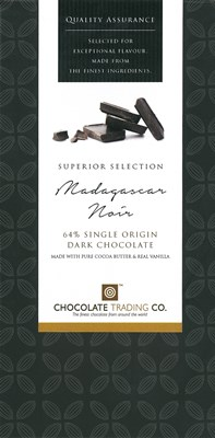 Madagascar Noir, 64% dark chocolate bar