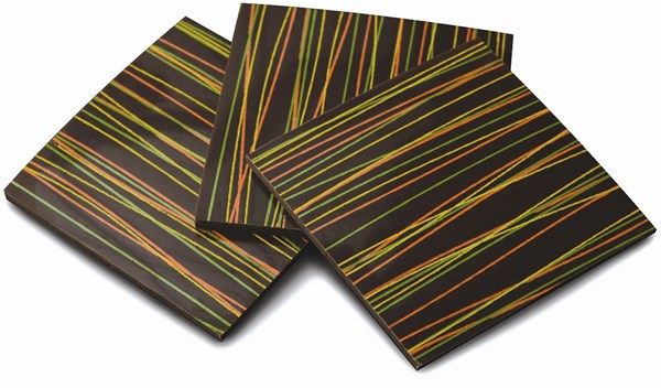 Striped chocolate panels