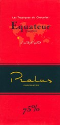 Pralus equateur dark chocolate bar
