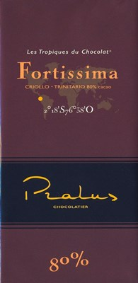 Pralus fortissima dark chocolate bar