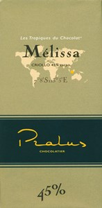 Pralus Melissa, 45% milk chocolate bar