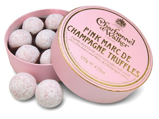 Pink Champagne truffles 135g