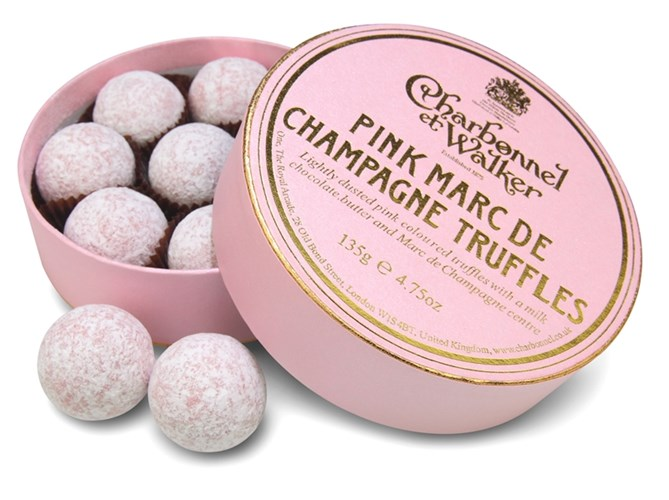 Pink champagne truffle135