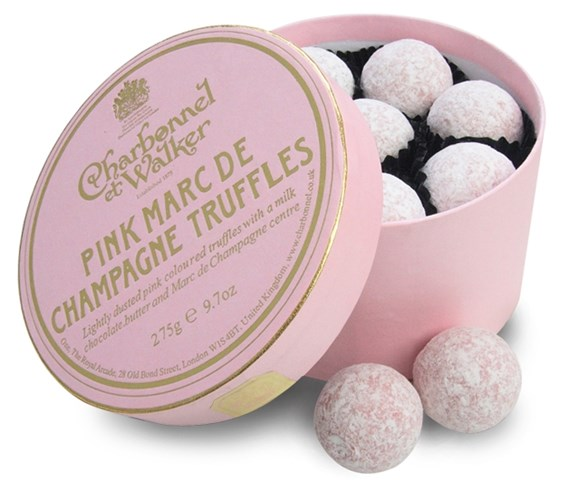 Charbonnel et Walker, Pink Champagne truffles - Chocolate Trading Co