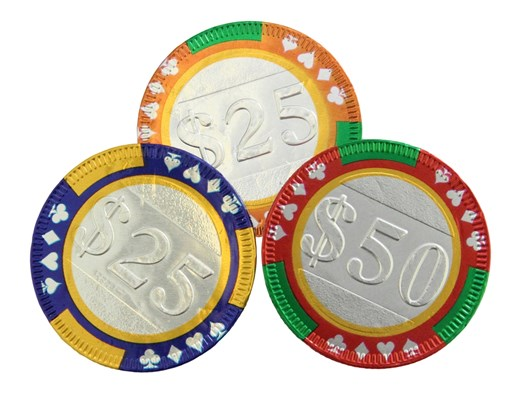 Chocolate casino poker chips