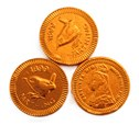 Copper farthing chocolate coin
