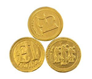 One pound chocolate coins  Bag of 100